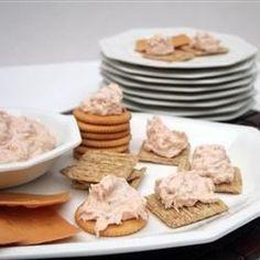 Salmon Spread  Subbed Greek yogurt for sour cream. Added 1 tsp mesquite liquid smoke. So good!!!!!
