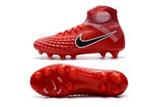 3a964d83d Nike Magista Obra II FG Red Black White Flyknit Top Ankle Men Soccer Shoes