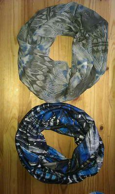 Loop Schals grau blau