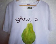 The Fruit themed Freshly made Summer t-shirt.   Hand Painted directly on the shirt, each one is unique and made by me upon your order.  SHIRT WILL LOOK LIKE THE ORIGINAL BUT NOT THE SAME, EACH is UNIQUE, like you!   Made of organic cotton or the softest bamboo there is (depending on shirt color & style)  Shirt is guaranteed to last beautifully for decades. Hand wash properly. Thank You for supporting my work :)  MY PROMISE TO YOU IS THAT YOU WILL LOVE YOUR SHIRT or Ill make you another on...