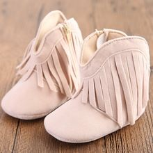 Sweet New Girls Newborn Baby Shoes Fashion Boots Winter Shoes Prewalker Lace Cute Kids Classic Girls Fringe Boots Warm Shoes(China (Mainland))
