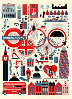 East End Prints - Jeux olympiques de Londres par Dieter Braun Capas Para Iphone 4s, City Poster, London Illustration, Creation Art, Photo Vintage, Vintage Art, Vintage Travel Posters, Union Jack, Fine Art Prints