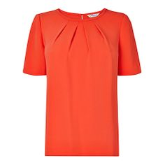 Buy L.K. Bennett Tanza Tuck Detail Top, Mandarin Online at johnlewis.com