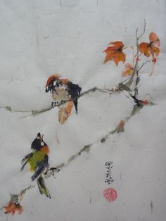 hello1 Japanese Painting, Chinese Painting, Japanese Art, Sumi E Painting, Watercolour Painting, Watercolors, Oriental, Art Asiatique, Chinese Brush