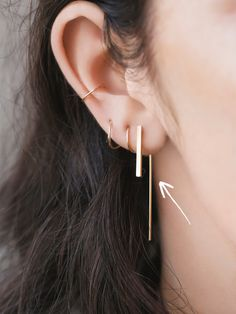 Jules Smith Small Hook Earring at Free People Clothing Boutique