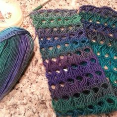 Broomstick lace scarf. Inspiration only, no link.