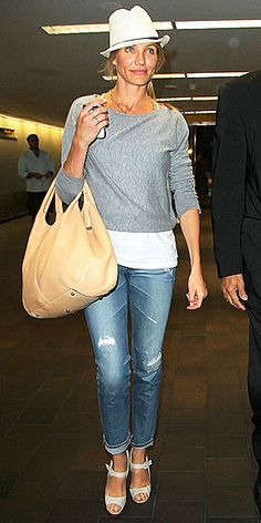 Cameron Diaz - her effortless, casual style is attainable/wearable for everyday