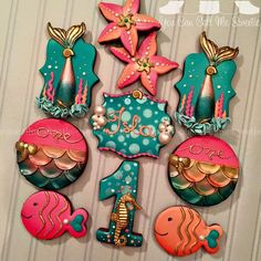 glam mermaid cookies