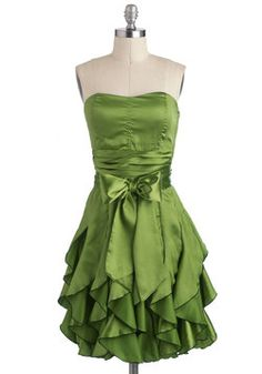 I don't have anywhere to wear this, but oh how I want it!  Who Wants to Be a Frillionaire Dress in Olive, #ModCloth