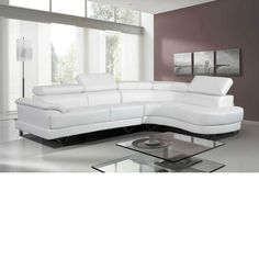 Contemporary White Sectional
