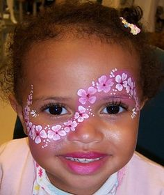 cuuuuute flower face paint ♥ metamorfaces - sharon