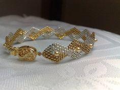 Step-by-Step pdf Tutorial Rhombus delicate bracelet por BeadsHead