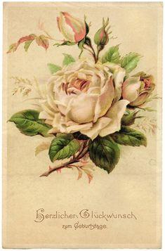 Картинки для декупажа. Винтажные розы. Обсуждение на LiveInternet ...