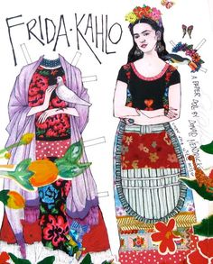 Diego Rivera, Fridah Kahlo, Paper Art, Paper Crafts, Frida And Diego, Frida Art, Mexican Artists, Party Props, Colorful Drawings