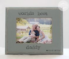 Dad Gift Picture Frame 5x7 Gift for Father Dad by CrystalCoveDS
