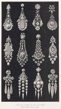 Volume 3 of encyclopedic three-volume history of century French jewelry, written by a noted French jeweler with numerous high quality black & white. Antique Jewellery Designs, Antique Jewelry, Vintage Jewelry, Art Deco Jewelry, Fine Jewelry, Jewelry Design Drawing, Jewelry Illustration, Jewellery Sketches, Pearl Necklace Designs