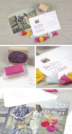Invitacion boda estilo postal by @ppstudiobcn