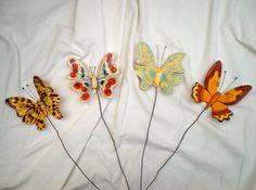Ceramic butterflies