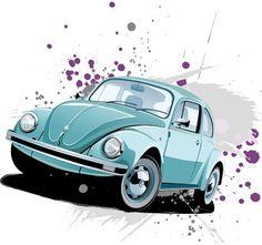 Volkswagen Beetle Clásico en vector | Vector of Volkswagen Beetle Classic | Recursos 2D.com