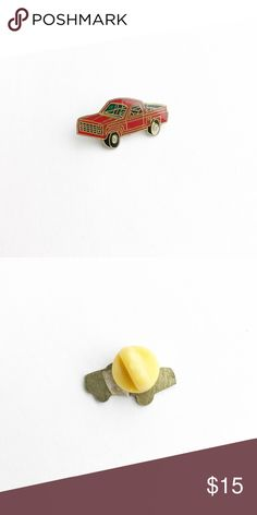 """Vintage Pickup Truck Enamel Pin Vintage Pickup Truck Enamel Pin  • true vintage • 1"""" x 1/2"""" • colors: red, green, black, white • tags: keep on truckin', ford, chevy, chevrolet, GMC, Toyota, Nissan, hot rod, muscle car, big wheel, classic, 70s, 80s, backroads, open country roads, free spirit, cab, bed, redneck, badass, racing, hat, lapel, jacket, brooch, collector, owner, lover • all of the pins I sell are vintage and may contain minor nicks, imperfections, or oxidation Vintage Accessories"""