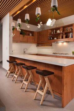Fotos de cocinas de estilo moderno en amarillo de duo arquitectura ... | {Altholzküchen modern 56}