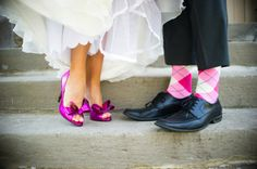 Pink shoes, matching pink socks // photo by AJH Photography