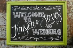 *** this one** for rehearsal dinner welcome sign!  Framed Chalkboard Wedding Sign Decor - XL Size