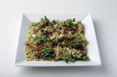 Cuscuz verde com ervas - O pesto de ervas dá um toque especial a esse prato
