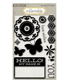Take a look at this Hello Clear Acrylic Stamps on zulily today!