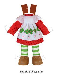 ✄ #Paper dolls.....Vector Art Strawberry Shortcake