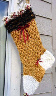 """Miss Kitty"" Christmas Stocking"