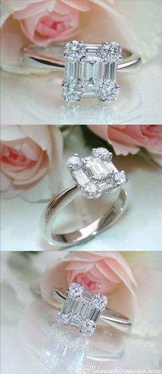 Exquisite Diamond Ring, 1,26 cts G-VVSI/VSI, WG-18K - Visit: schmucktraeume.com - Like: https://www.facebook.com/pages/Noble-Juwelen/150871984924926 - Mail: info@schmucktraeume.com