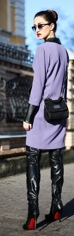 Lavender And Black Outfit