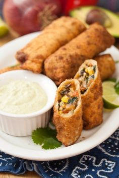 Southwestern Egg Rolls | Tide and Thyme