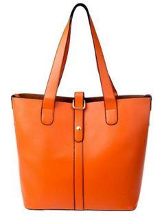 Gift for women - love this orange leather handbag (or gift for me :)
