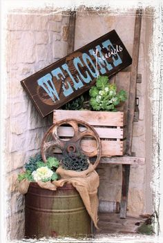 LARGE 12X36 IN Western Style Welcome by RumpelstreetBoutique, $135.00 Nice Closing gift - Other Sizes available.