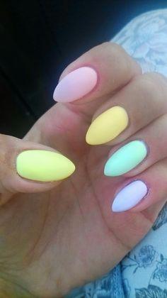 #nail #pastelowe #matowe #summernail