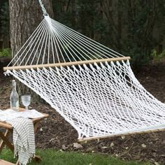 Island Bay XL Thick Rope Double Hammock with FREE Hanging Hardware