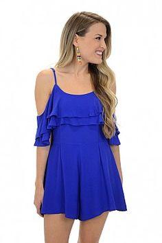 fa8c8e42e7ec Blue Bliss Romper Blue Door Boutique