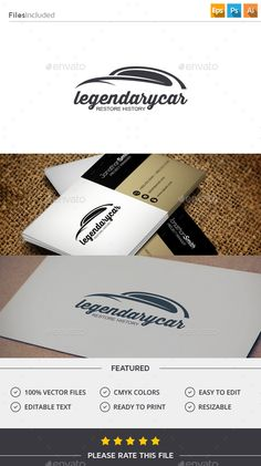 Car  Logo Design Template Vector #logotype Download it here: http://graphicriver.net/item/car-logo/11506862?s_rank=814?ref=nexion