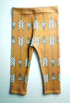 Rust Arrow Organic Cotton Leggings