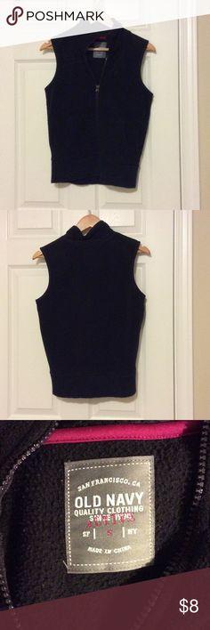 Old Navy Black Vest Sport Old Navy Jackets & Coats Vests