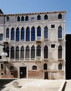 Fortuny Palace, Venice, Italy: Built on the initiative of Benedict Pesaro from the middle of the fifteenth century building, enlarged and transformed over the centuries, is presented with the grandeur of his vast body with a façade towards the Rio di Ca 'Michiel and with a wider, and among the most complex of the Venetian Gothic, the field of San Beneto. -- 4th October 2014 - 4th March 2015 -- The Divine Marchesa. Art and life of Luisa Casati by Belle Époque to crazy Years