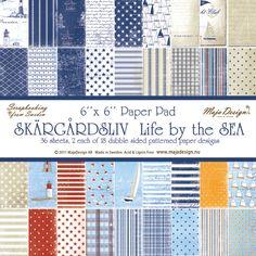 Maja Designs 6 x 6 Paper Pad - Life by the Sea