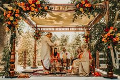 This Couple Infused Southern California Style Into Their Traditional Indian Wedd. This Couple Infused Southern California Style Into Their Traditional Indian Wedding at Brookview Ranch Hindu Wedding Ceremony, Wedding Mandap, Wedding Venues, Hindu Weddings, Wedding Stage, Destination Weddings, Desi Wedding, Wedding Poses, Wedding Portraits