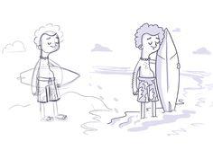 Surfer by Vic Bell #Design Popular #Dribbble #shots