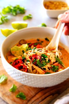 We've got all the best chicken soup recipes right here! If you're looking for easy chicken soup recipes, take a peek at our best-of collection, from Thai coconut chicken soup to chicken vegetable soup. Thai Noodle Soups, Thai Chicken Noodles, Chicken Noodle Recipes, Rice Noodles, Thai Soup, Spicy Soup, Garlic Noodles, Spicy Thai, Asian Noodles