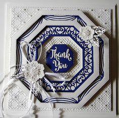 Thank You (PartiCraft (Participate In Craft)) Hexagon Cards, Sue Wilson Dies, Spellbinders Cards, Flower Cards, Making Ideas, Thank You Cards, Cardmaking, Birthday Cards, Happy Birthday