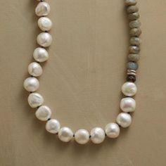 Handmade Labradorite & Cultured Pearl Necklace                                              | Robert Redford's Sundance Catalog