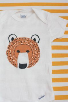 Freezer paper stencil onesies for lil men on The Alison Show